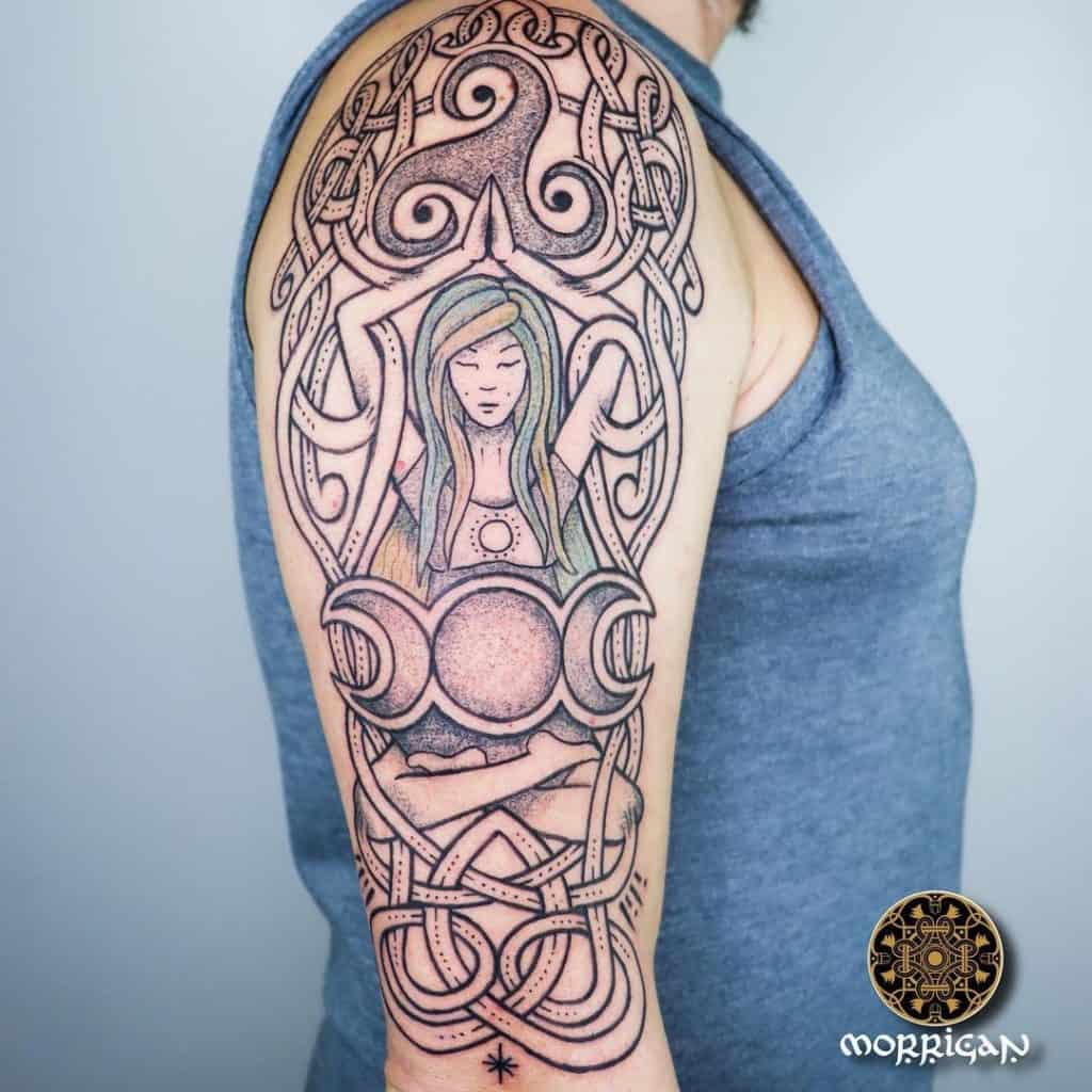 Triple Goddess Tattoo