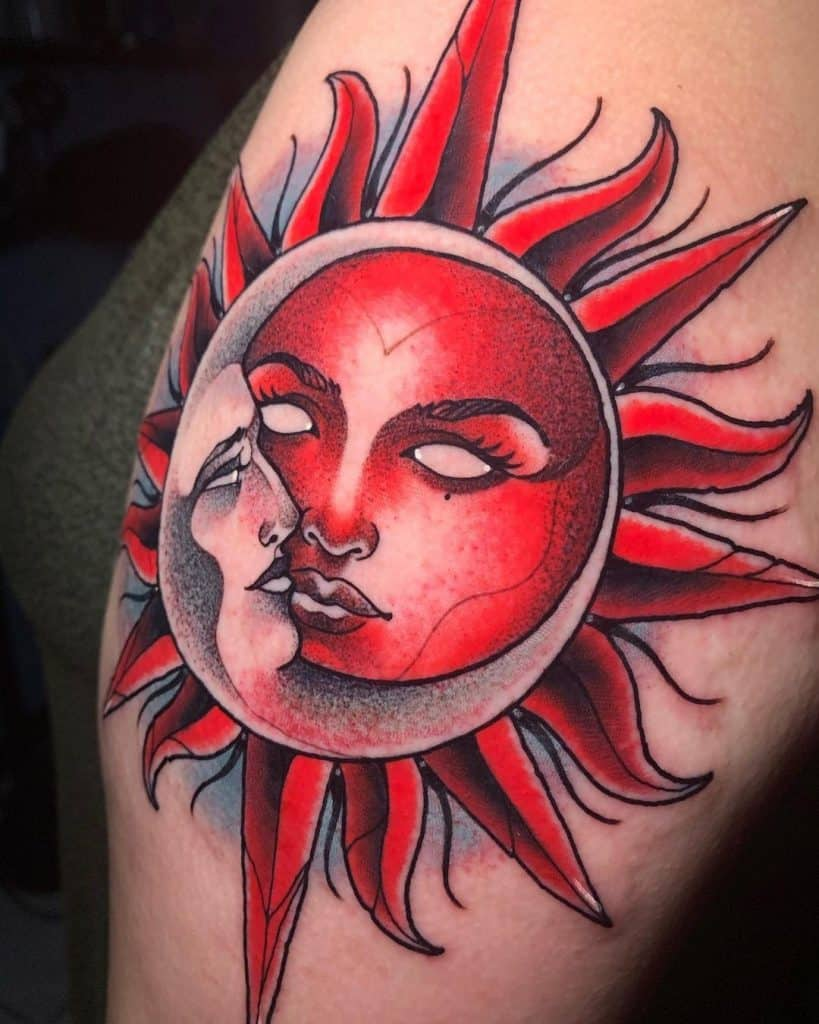 Unique Sun and Moon Tattoo Designs 2