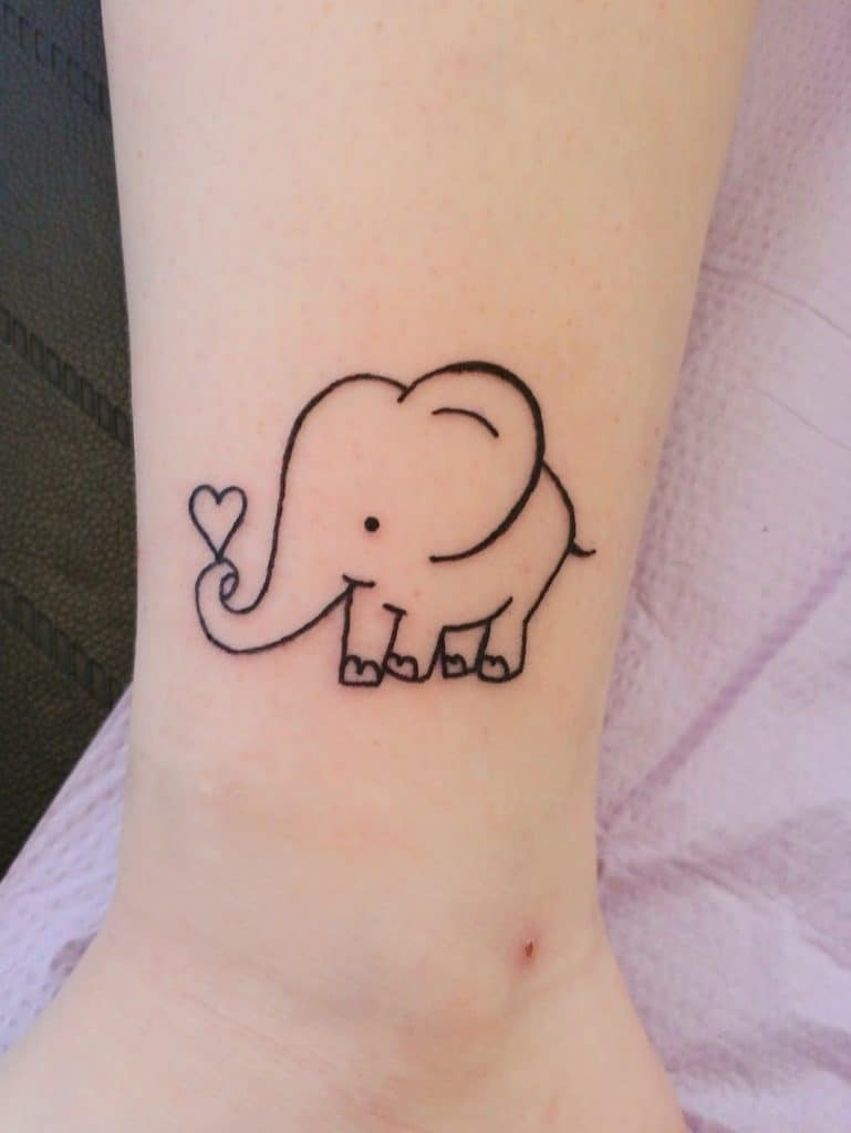 Cute Elephant Small Tattoos