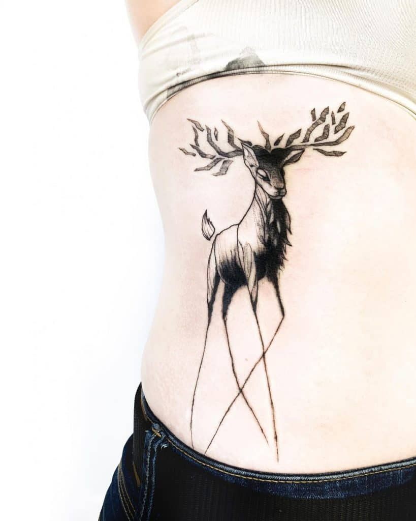 Deer Tattoos on the body