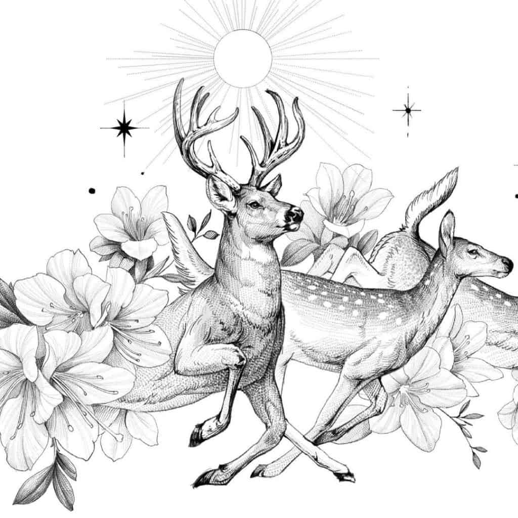 Deer (and Deer Tattoos) Meaning and Symbolism Explained