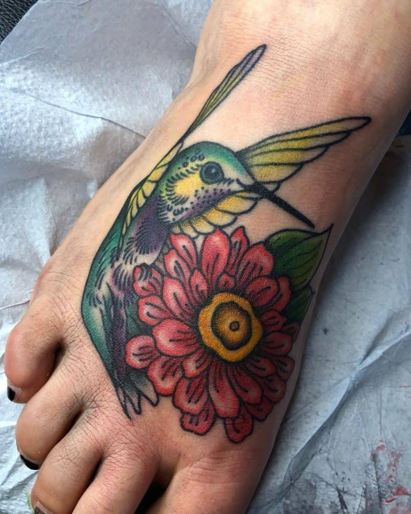 Foot Tattoo Designs Bird Image