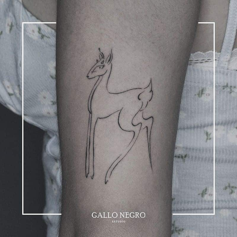 Simplistic Deer Tattoo on the shoulder