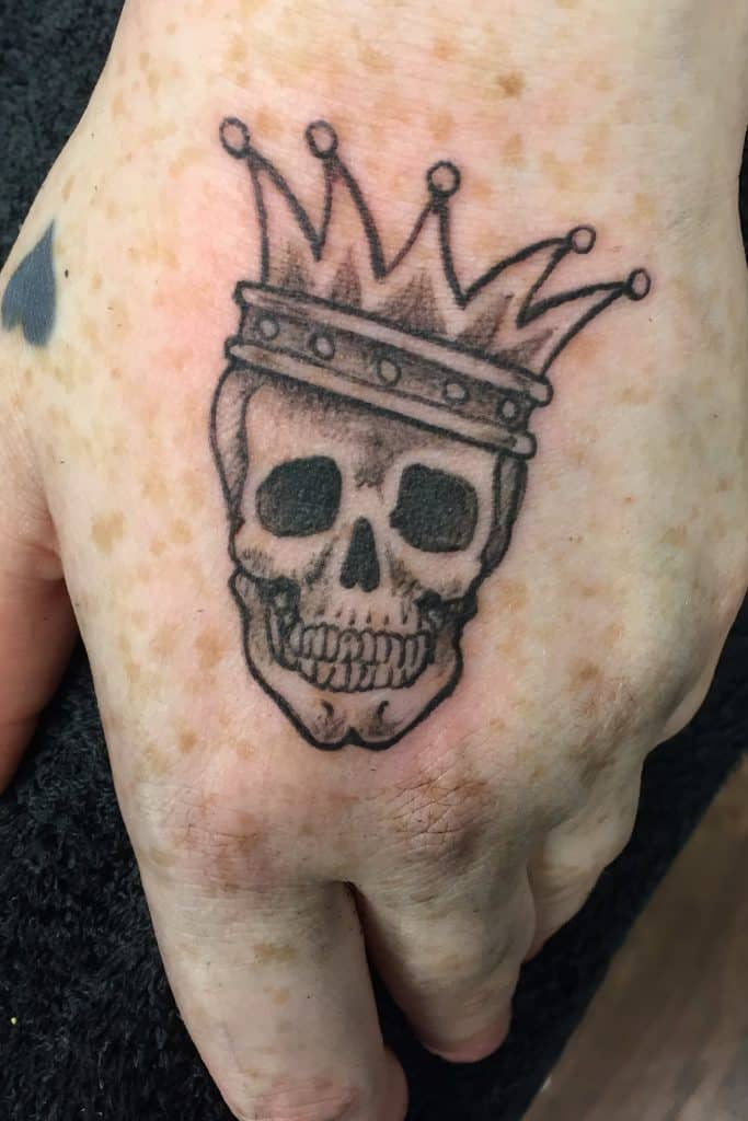 Small Mens Tattoos Skull Image