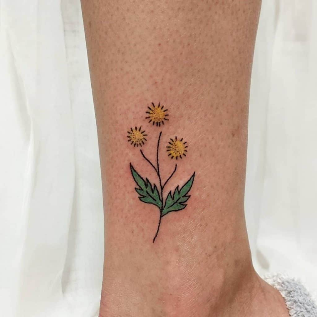 Small Tattoos Flower Idea