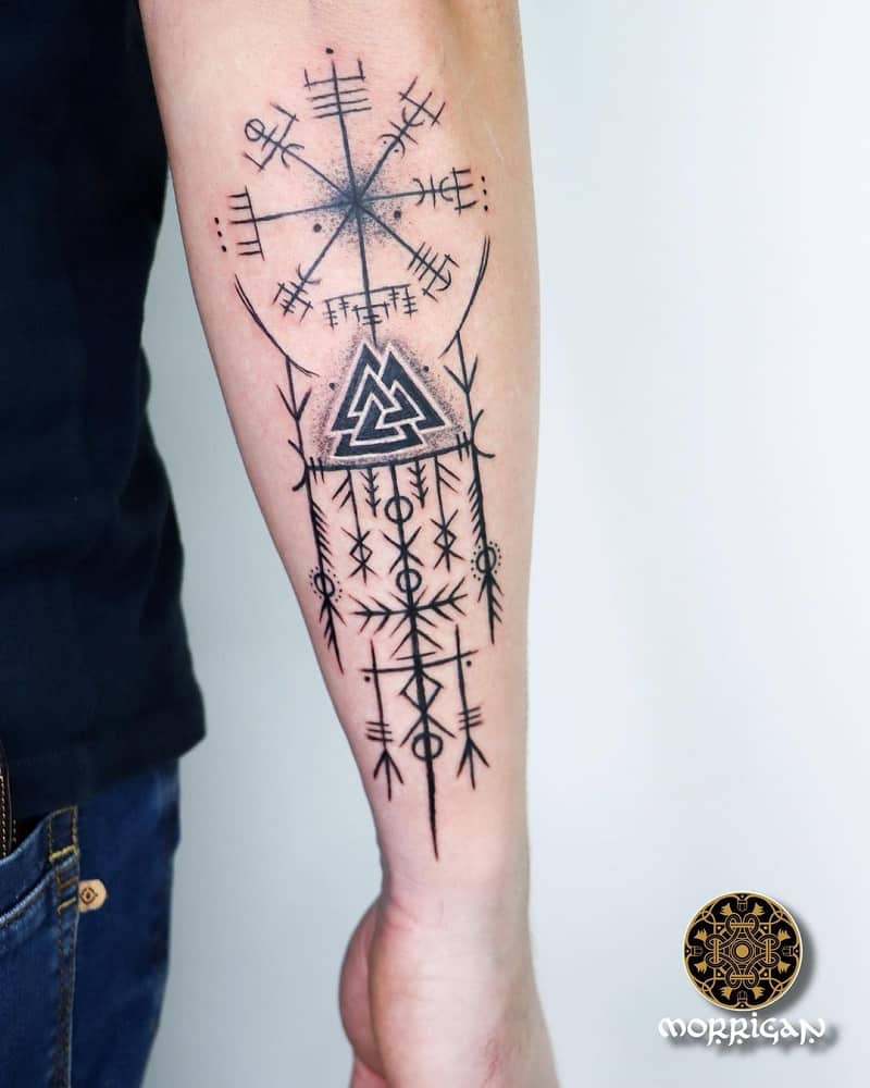 Valknut Sleeve Tattoo