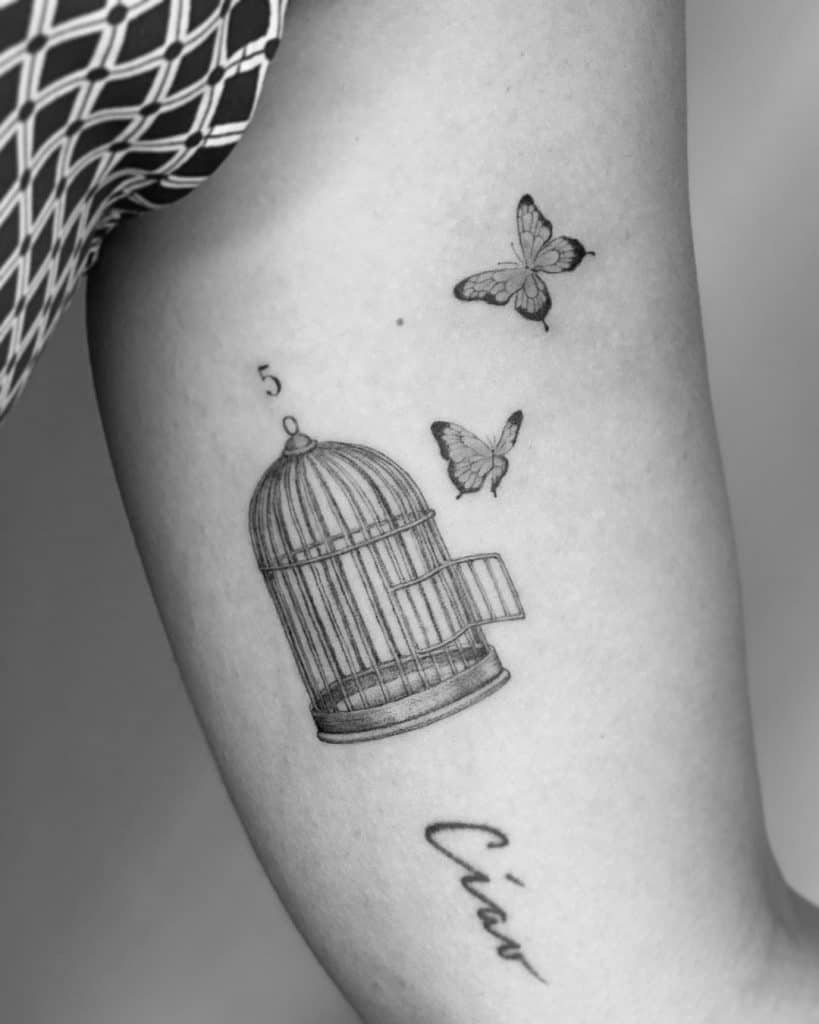 An Open Cage Tattoo 2