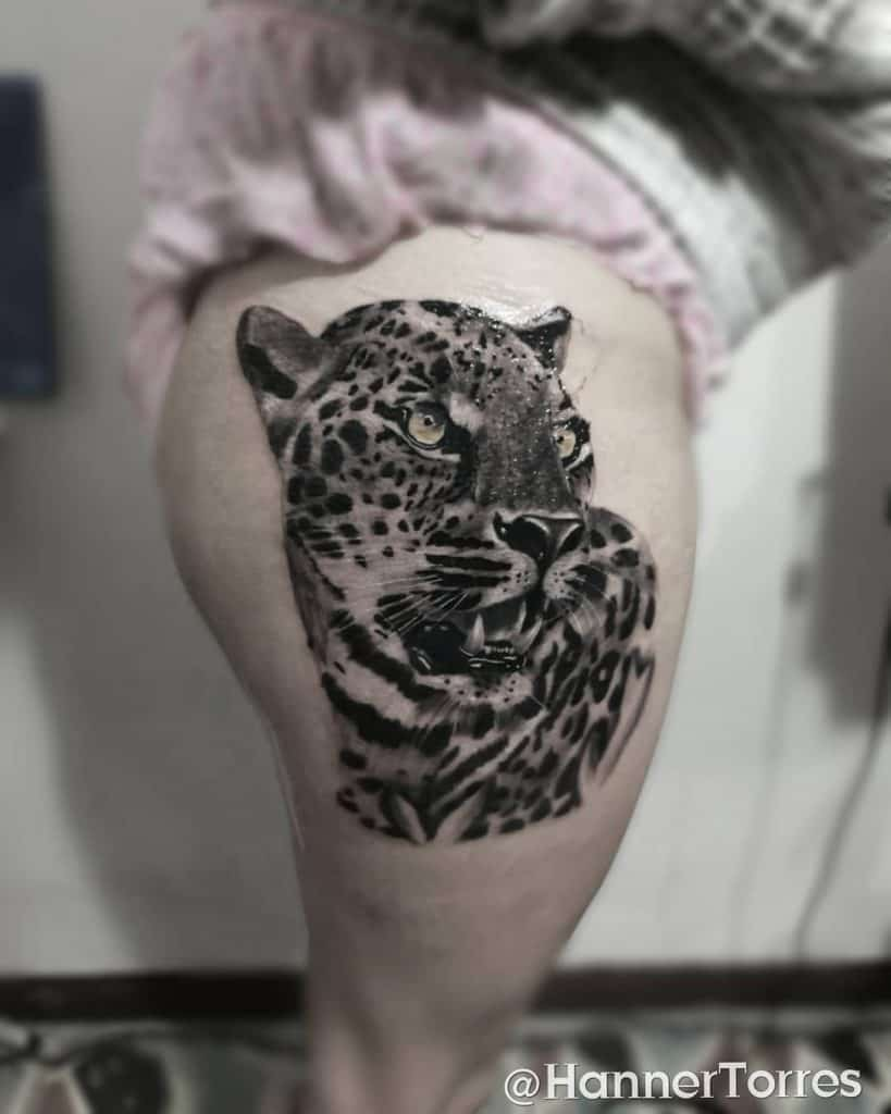 Animal Themed Black and Gray Tattoos 1