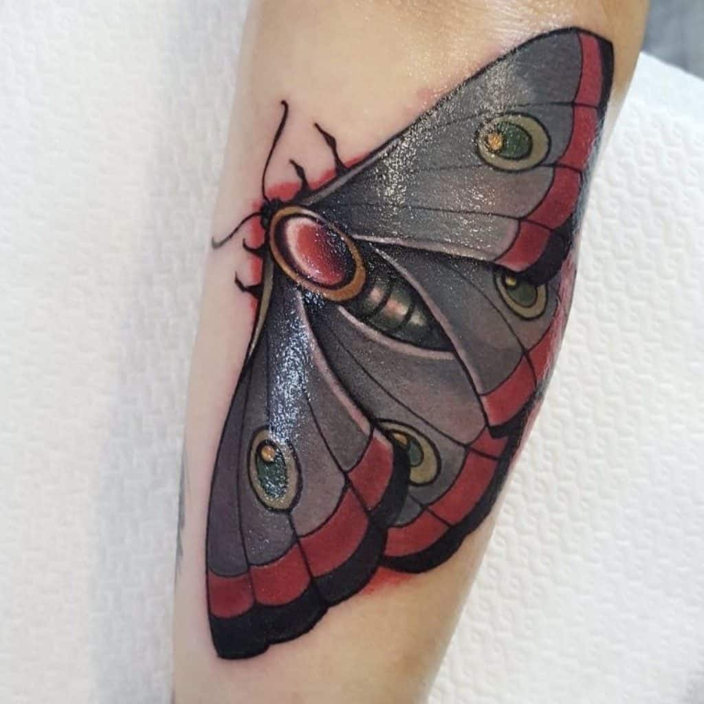 Black Delicate Butterfly Tattoo