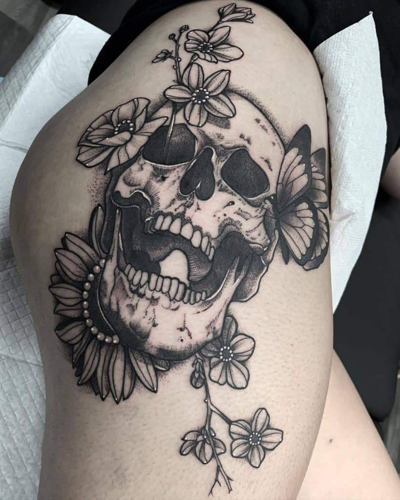 Black and Grey Skull Tattoos 2