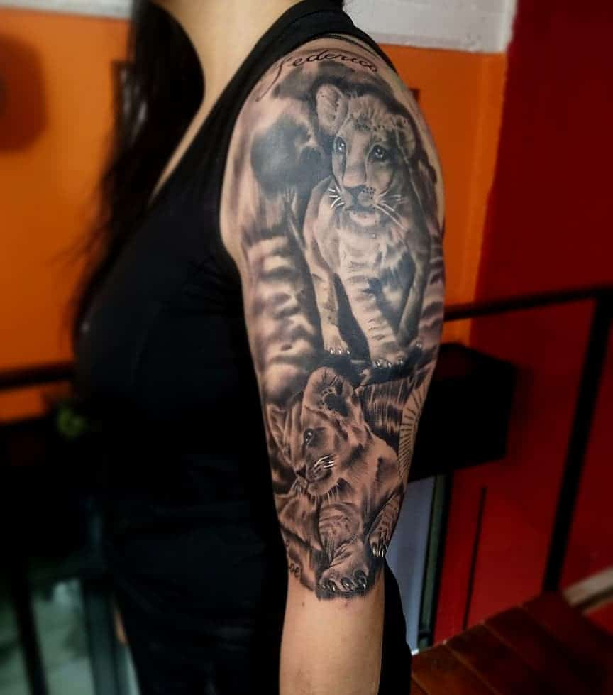 Black and White Tattoos on the Sleeve 1