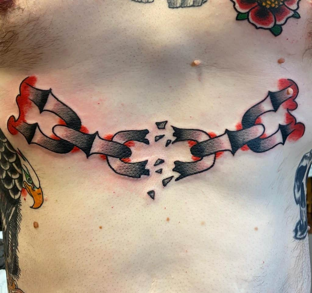 Broken Chain Tattoo 3