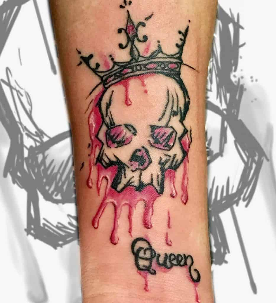 Crown and Skull Tattoo Design