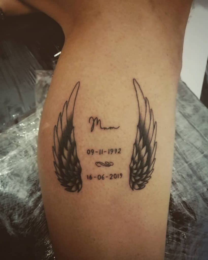 Date and Name Memorial Tattoo 1