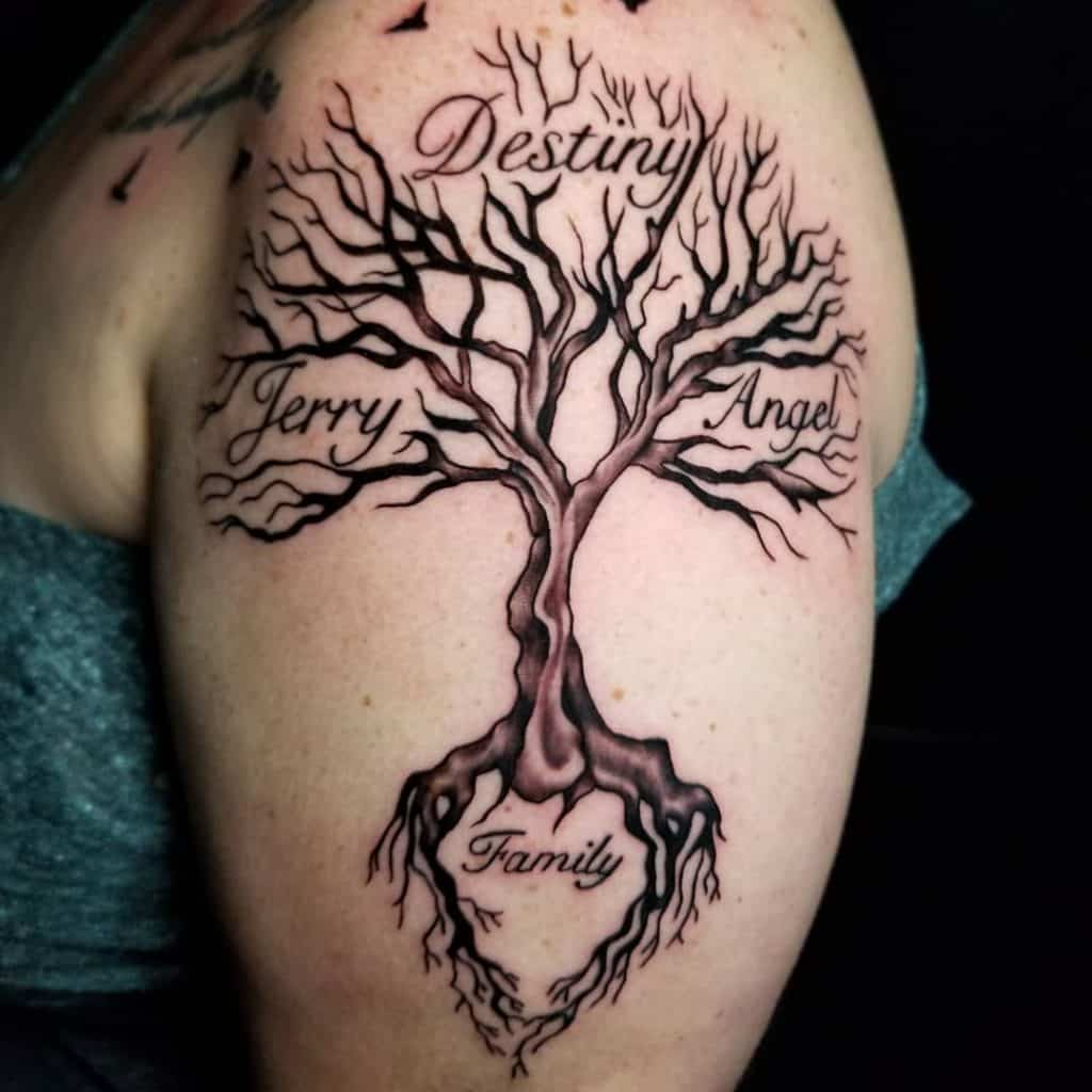 20 Family Tree Tattoo Designs And Meanings   Saved Tattoo