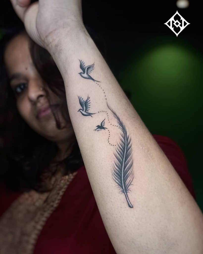 Flying Bird Tattoo 3