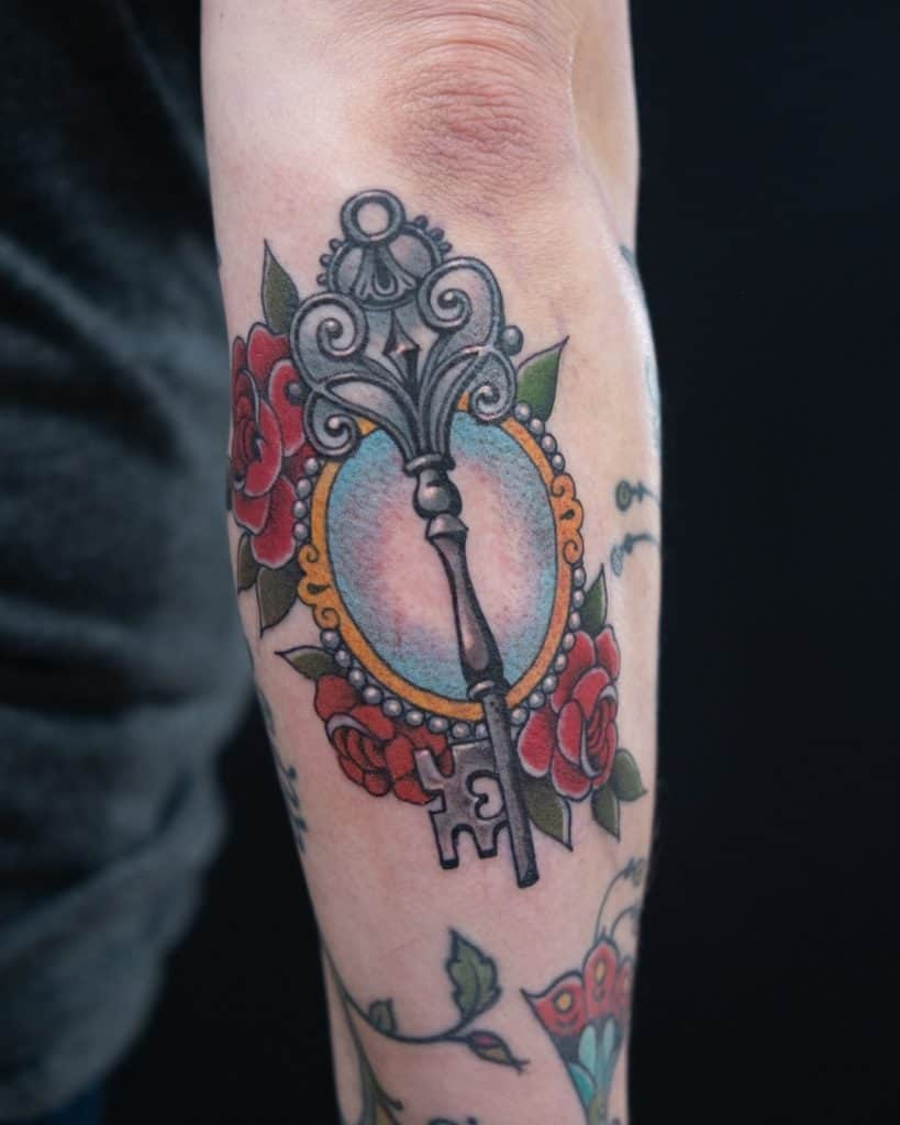 Skeleton Key Tattoo 3