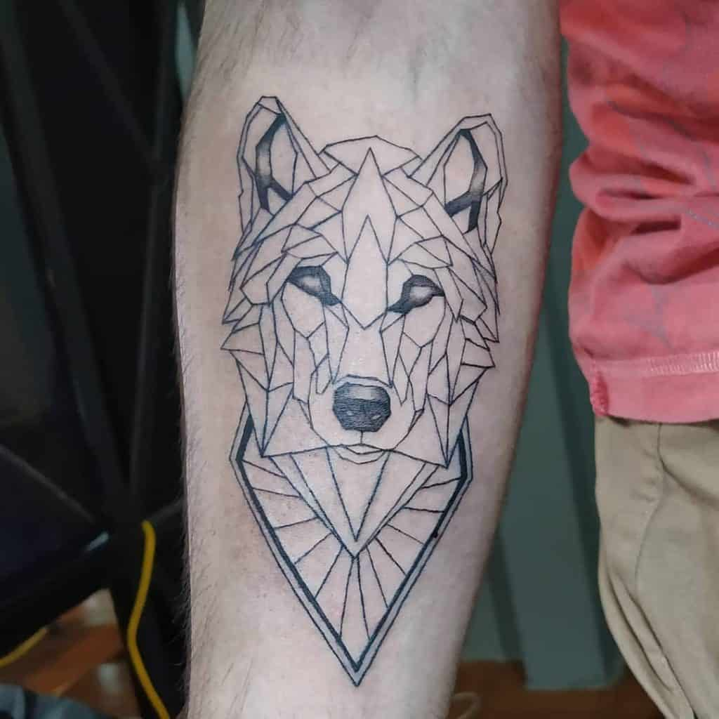 Geometric Black And Grey Tattoos 2