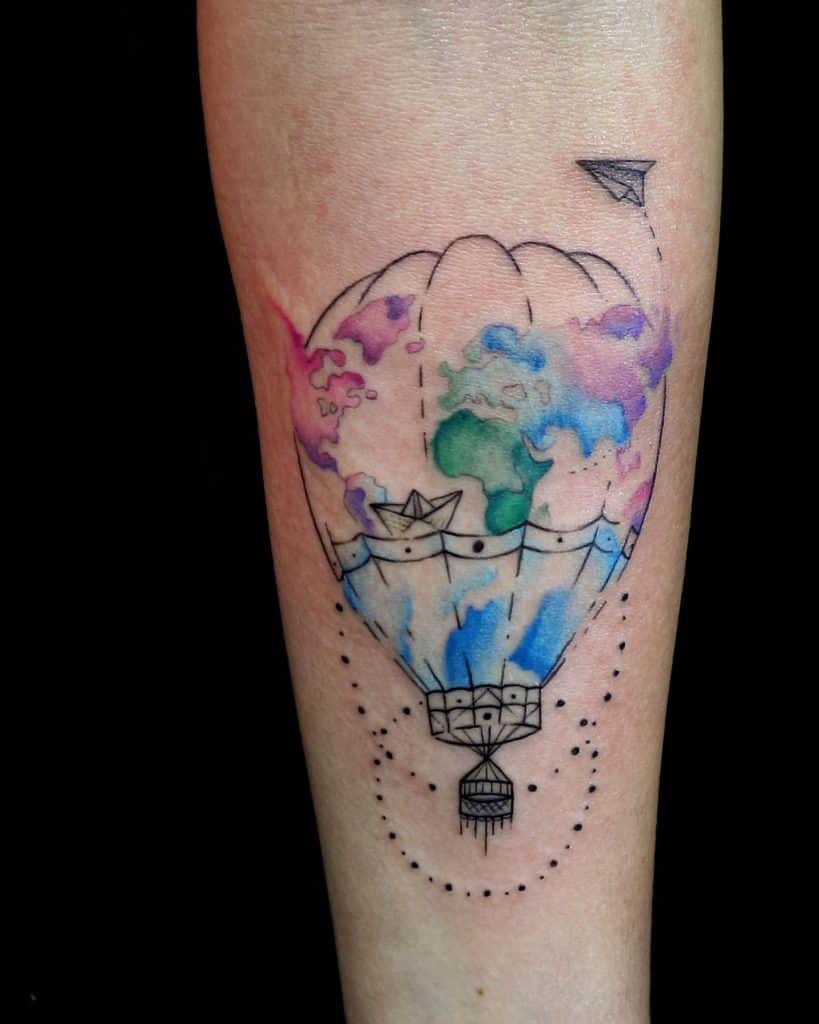 Hot Air Balloon Tattoos 1