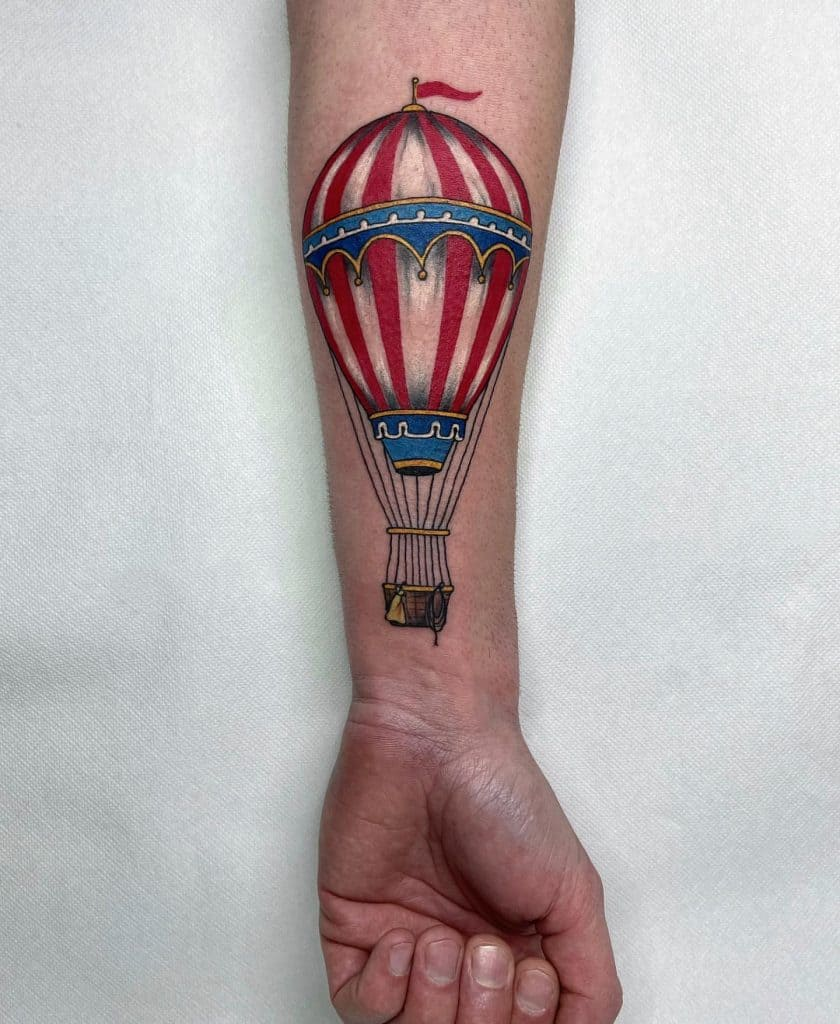 Hot Air Balloon Tattoos 3