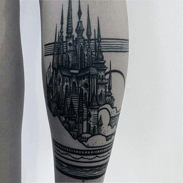 Medieval Themed Black and Gray Tattoos 2