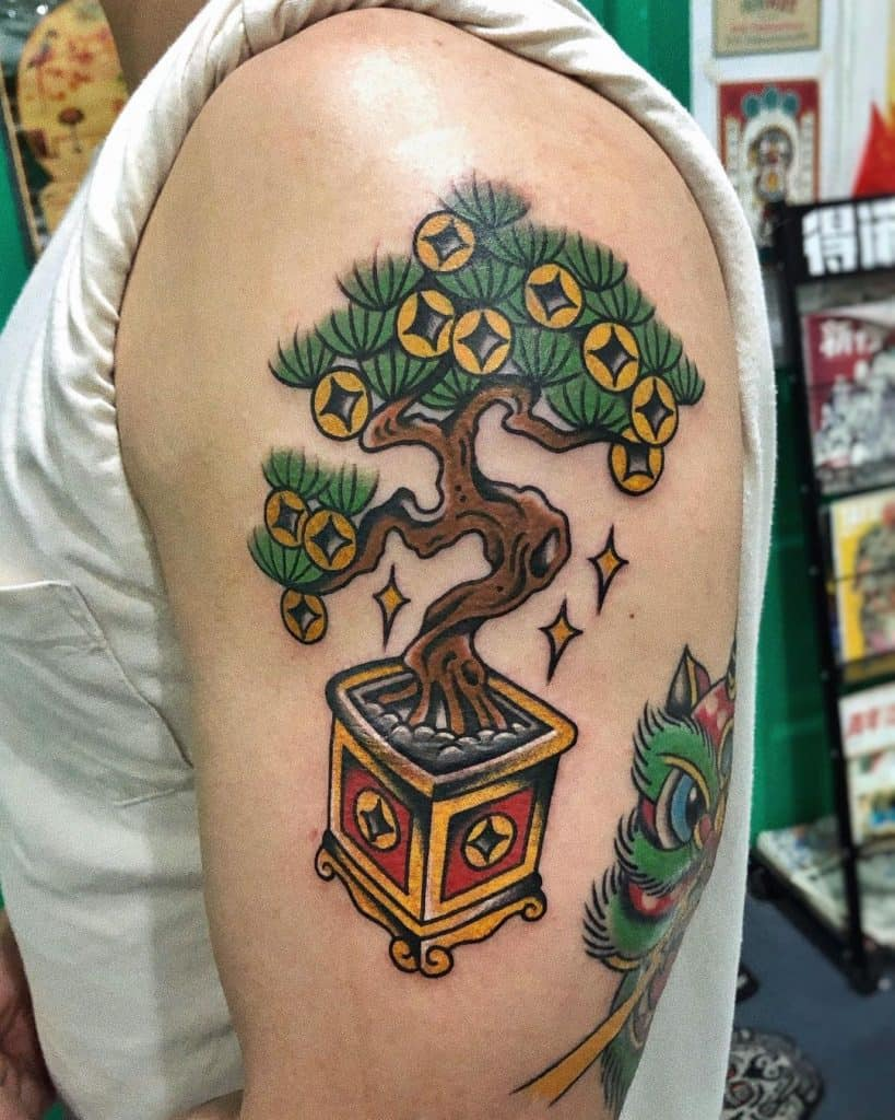 Money Tree Tattoo 1
