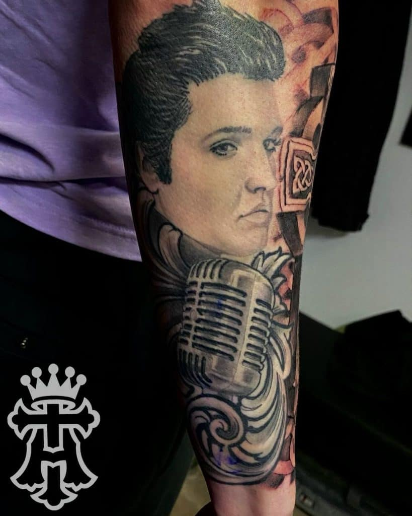 Pop Culture Realism Black and Gray Tattoos 3