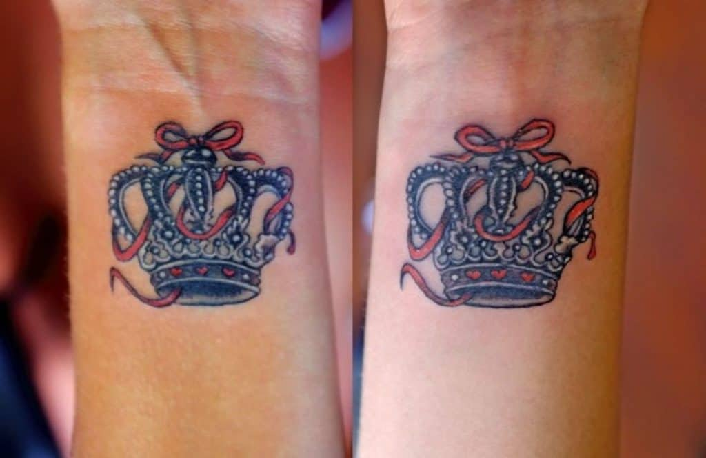 Red Crown Tattoo on Arm