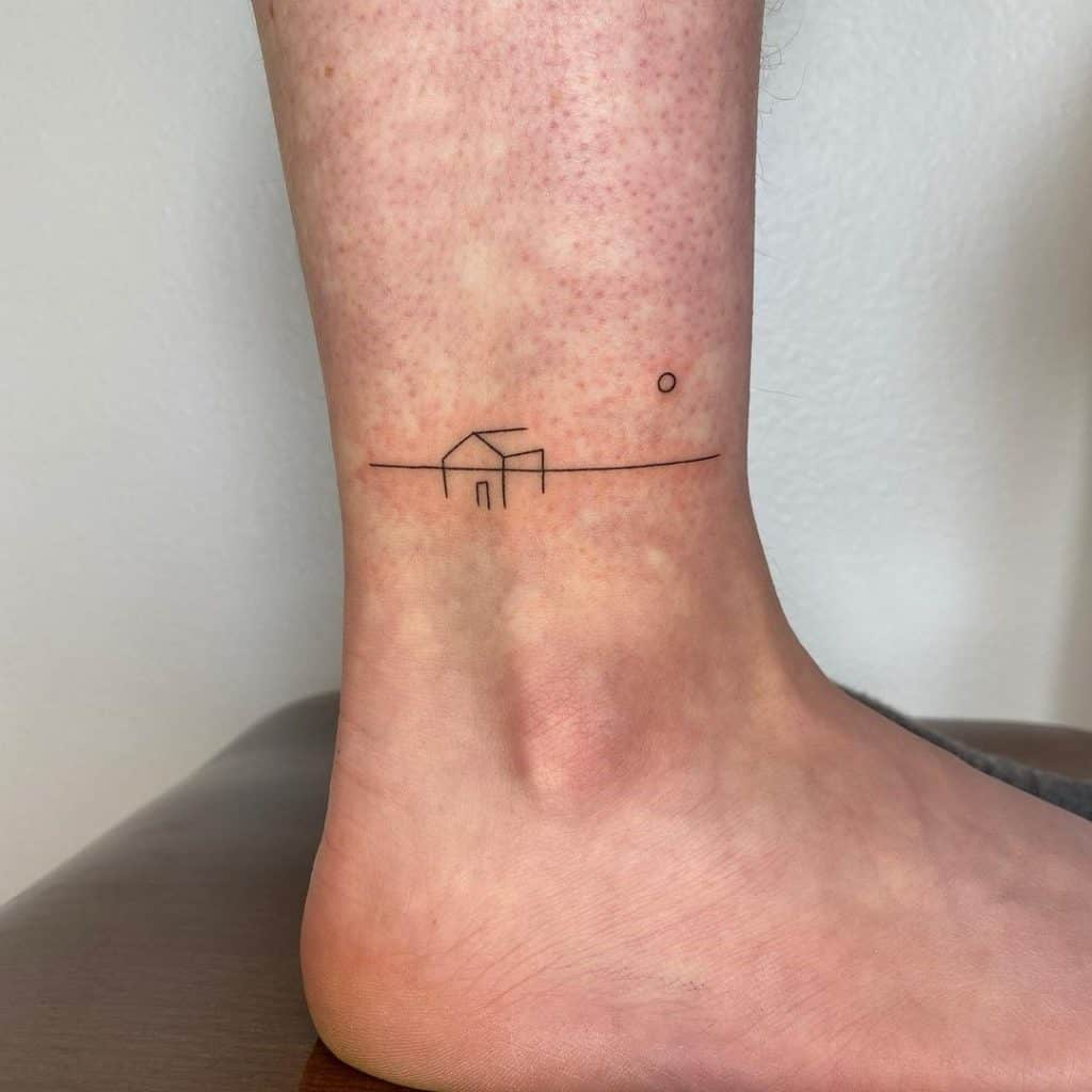 Small Ankle Tattoo House Inspo