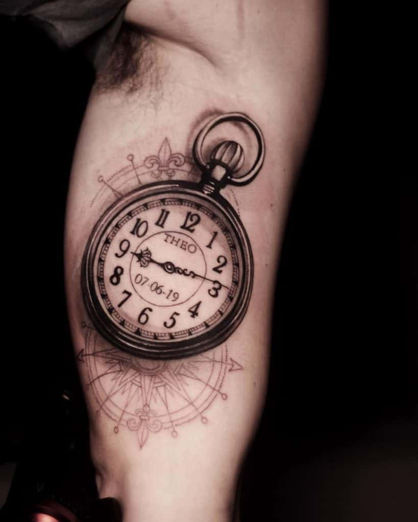 Timepiece Black and Gray Tattoos 3