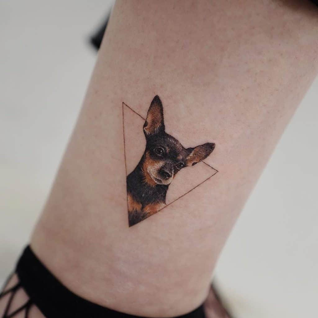Womens Ankle Tattoos Dog Design